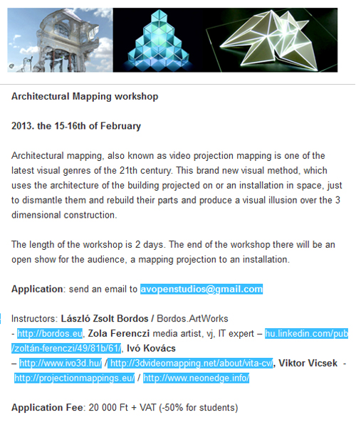 mapping workshop 2013 flyer